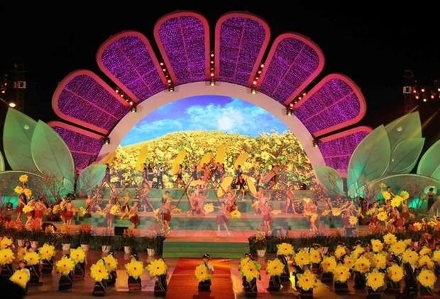 2015年第六次大叻花卉节精彩开幕 hinh anh 3