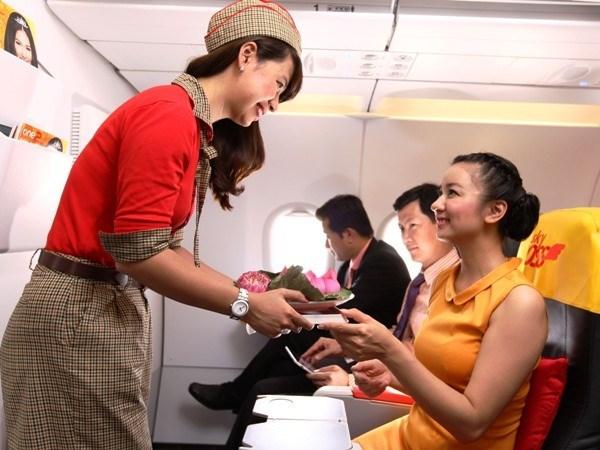 越捷航空公司积极参与大叻花卉节 hinh anh 1