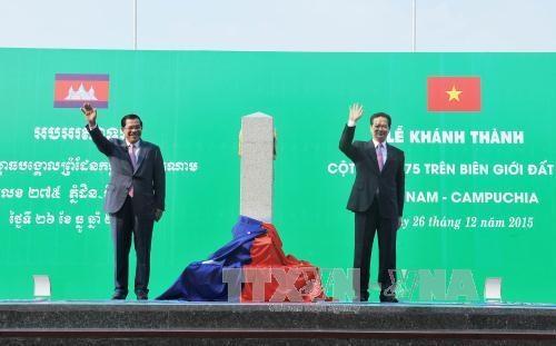 柬埔寨与越老泰三国的勘界立碑工作完成率达80%以上 hinh anh 1
