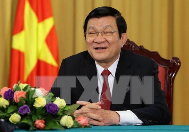 越南国家主席张晋创:上下齐心 攻坚克难 砥砺前行 hinh anh 1