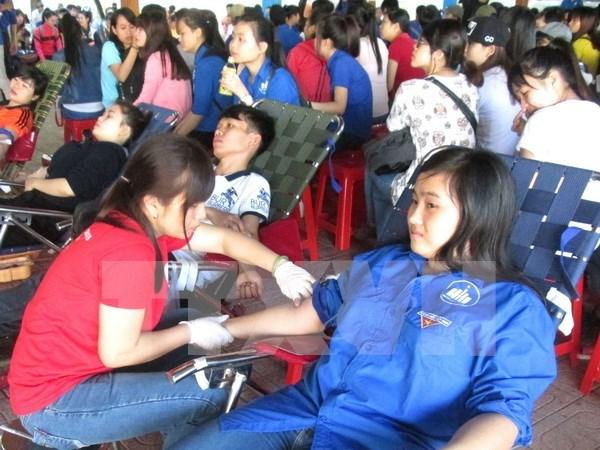 胡志明市:数千人参加志愿献血活动 hinh anh 1