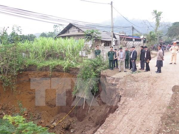 越南北件省发生地陷坑深约20米 hinh anh 1