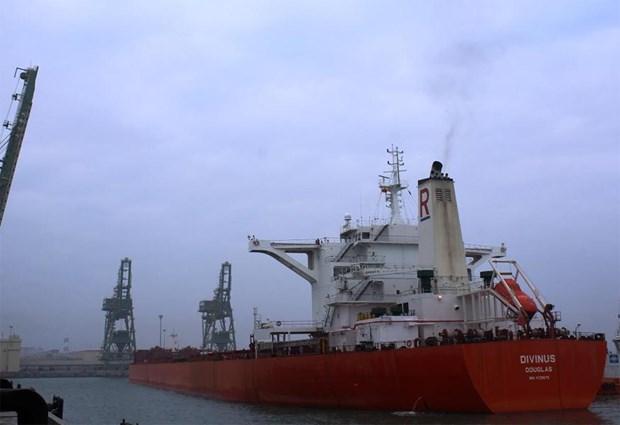 越南河静省山阳深水港迎来开港以来最大船舶 hinh anh 1