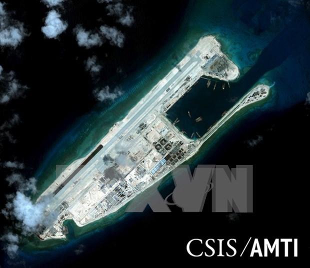 日美对中国在长沙群岛非法建设的机场进行校验试飞表示关切 hinh anh 1