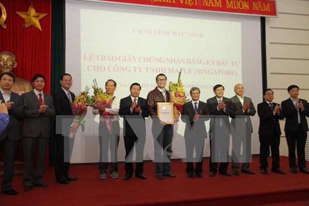 越南北宁省向新加坡企业1.1亿美元投资项目颁发许可证 hinh anh 1