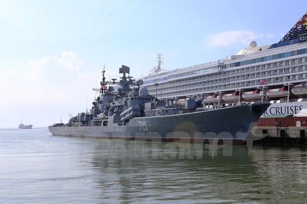 俄罗斯联邦海军编队抵达岘港市进行友好访问 hinh anh 1