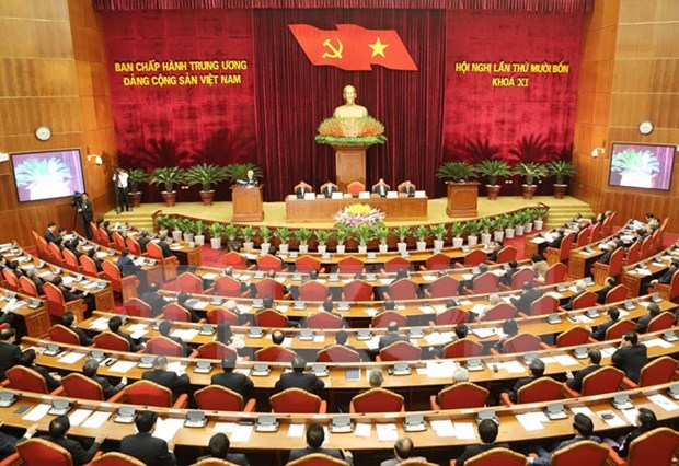 越共第十一届中央委员会第十四次全体会议在河内召开 hinh anh 1
