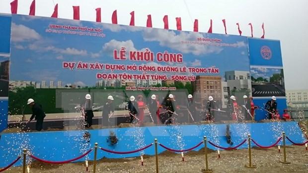 越南河内市黎重晋大街扩建项目正式开工 hinh anh 1