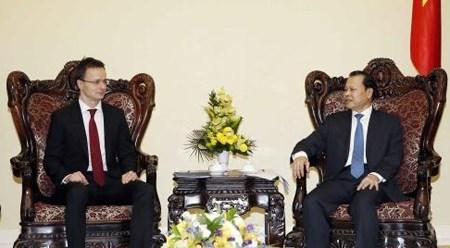 匈牙利外交与对外经济部长:希望匈越关系成为欧盟与东盟关系的支柱 hinh anh 1