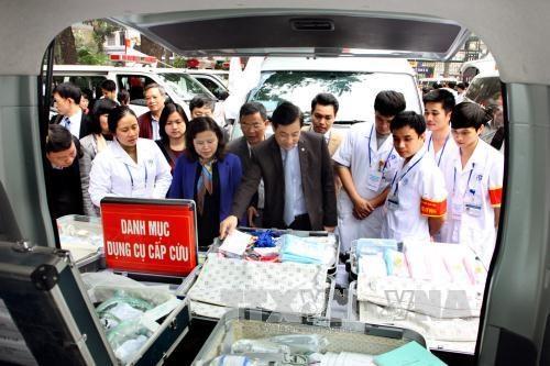 越南卫生部对越共十二大医疗卫生保障工作进行检查 hinh anh 1