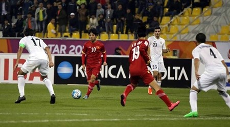 2016年U23亚洲杯:越南队以1比3输给约旦队 hinh anh 1