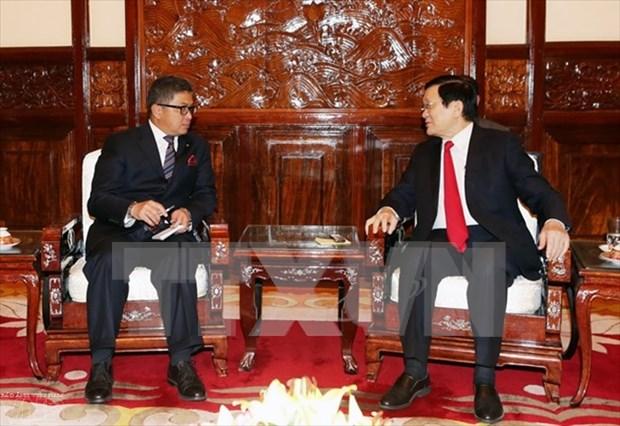 越南国家主席会见即将离任的外国驻越大使 hinh anh 1