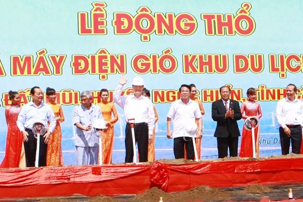 越南政府总理阮晋勇出席设在金瓯省的河内旗台形象工程动工仪式 hinh anh 2