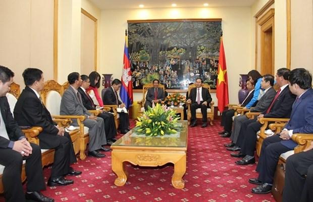 越柬加强合作 维护两国社会安全秩序 hinh anh 1