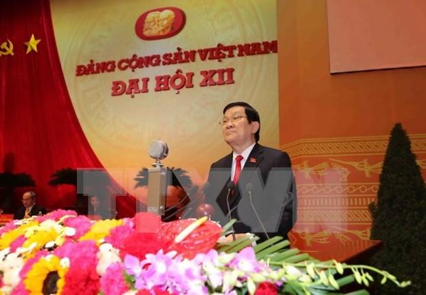 越南共产党第十二次全国代表大会在河内隆重开幕 hinh anh 2