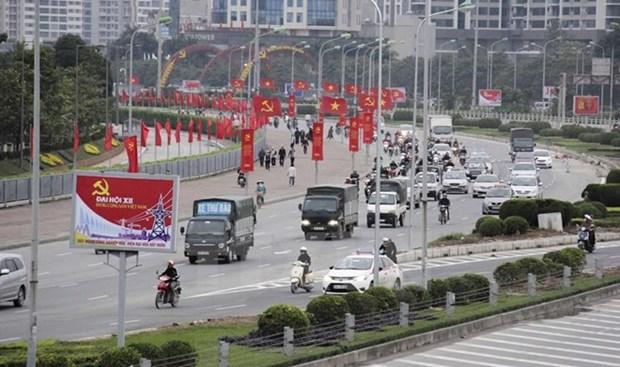 越共十二大:国际舆论高度评价越南经济前景 hinh anh 1