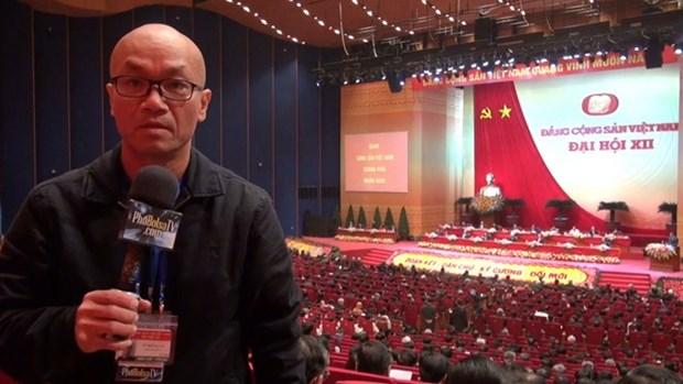 旅外越南人社群新闻媒体报道越共十二大 hinh anh 1