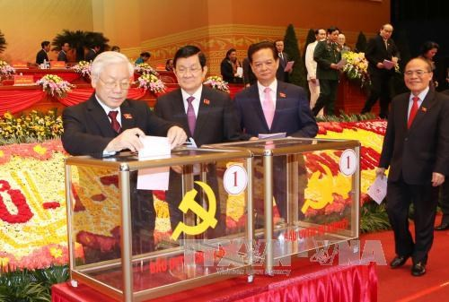 越共十二大:今日投票选出越共第十二届中央委员会 hinh anh 1