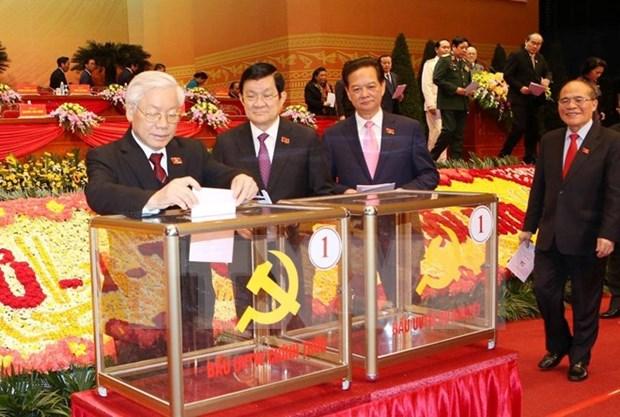 越共十二大:代表们相信新一届中央委员会将引领国家继续向前迈进 hinh anh 1