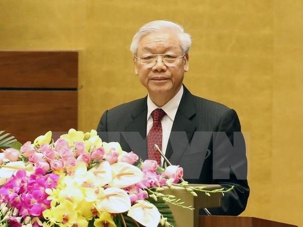 越共十二大:越共第十二届中央委员会组织结构 hinh anh 1