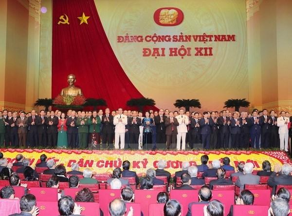 越共十二大:全国人民对越南共产党的领导表示相信 hinh anh 1