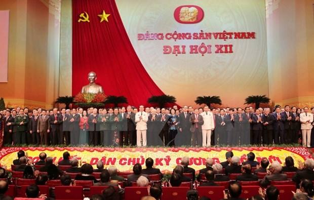 越共十二届中央政治局委员、总书记、书记处书记等名单正式公布 hinh anh 1