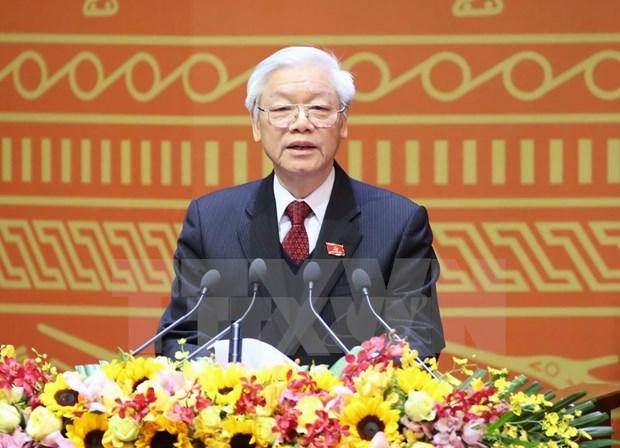 越南共产党第十二次全国代表大会发表闭幕式的新闻公报 hinh anh 3
