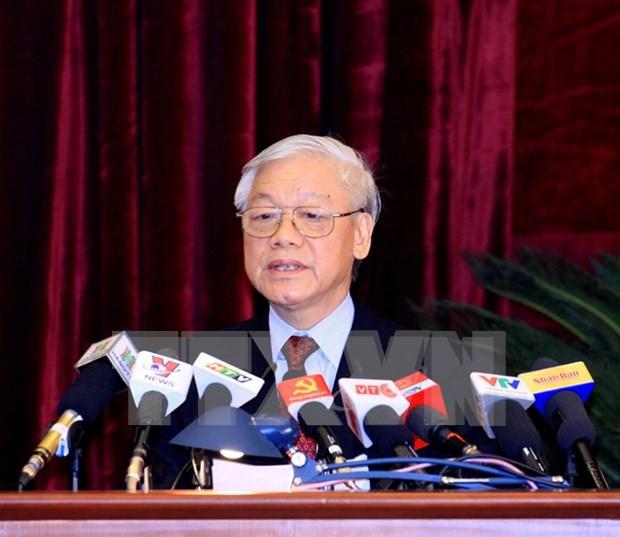 越共十二大:阮富仲总书记在越共十二届中央委员会向大会亮相时的讲话 hinh anh 1