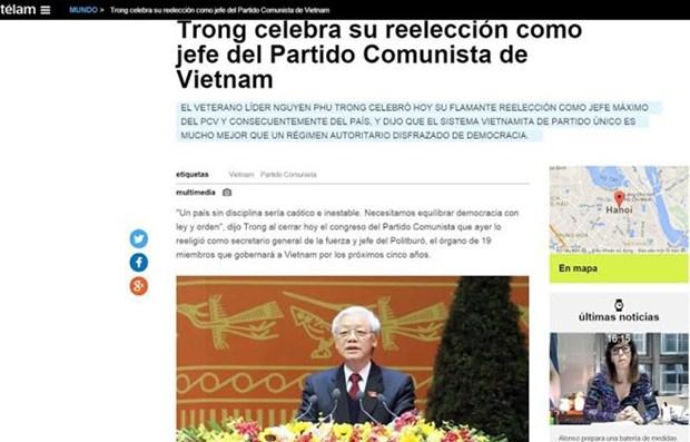 越共十二大:阿根廷美洲通讯社报道越共十二大的成功召开 hinh anh 1