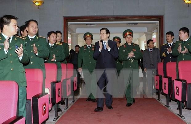 张晋创主席走访越南国防部后勤学院 hinh anh 1