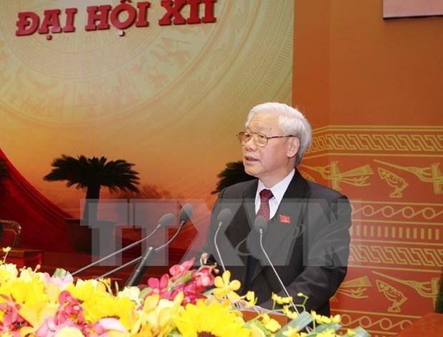 越共十二大:开启国家发展的新时期 稳步走向社会主义道路 hinh anh 1