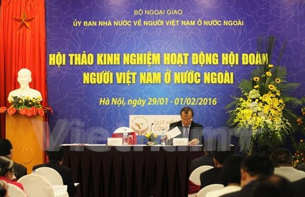 旅居海外越南人分享社团工作经验 hinh anh 1