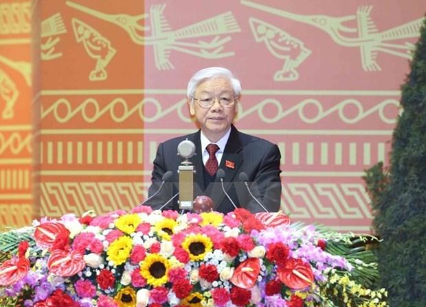 世界各国领导致电祝贺阮富仲再次当选越共中央总书记 hinh anh 1