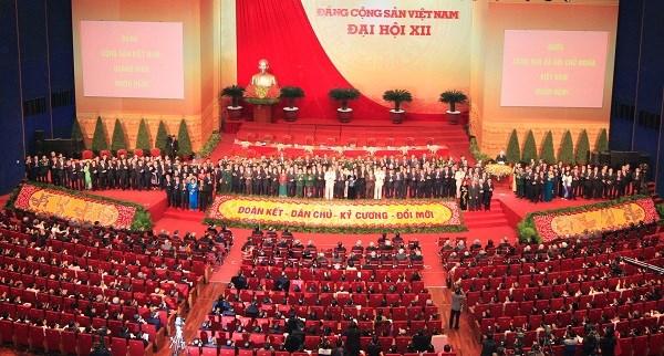 老挝及柬埔寨就纪念越南共产党建党68周年致以贺电 hinh anh 1