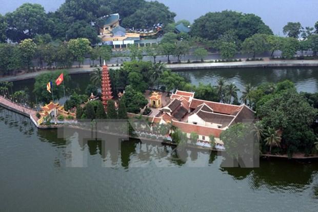 首都河内著名寺院及越南人春节去寺院拜佛的美俗 hinh anh 1