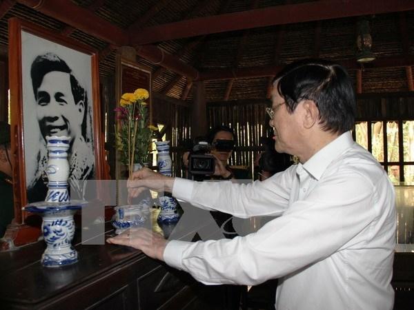 越南国家主席张晋创向西宁省拜年 hinh anh 1