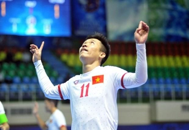 2016年亚洲五人制足球锦标赛:越南队提前晋级八强 hinh anh 1