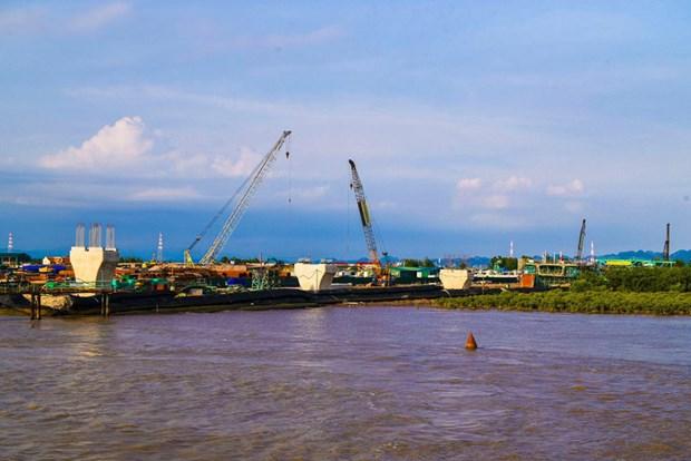 越南海防市新武—沥县跨海大桥施工进度超预期7% hinh anh 2