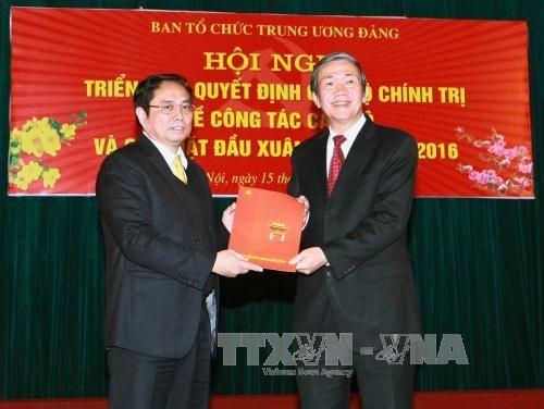 越共中央政治局委员范明正担任中央组织部部长职务 hinh anh 1
