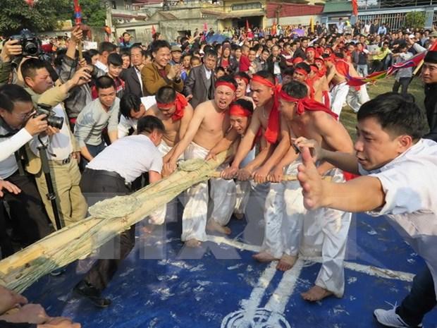 北宁省有执村拔河节和同骑村传统庙会正式成为国家非物质文化遗产 hinh anh 1