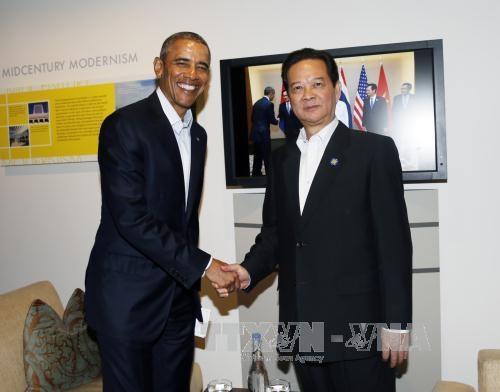 越南政府总理阮晋勇会见美国总统奥巴马 hinh anh 1
