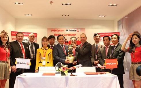 越捷航空公司在2016年新加坡航空展上签署最大金额合同 hinh anh 1