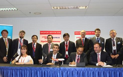 越捷航空公司在2016年新加坡航空展上签署最大金额合同 hinh anh 2