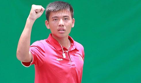中国网球F1未来赛:越南网球名将李黄南取得开门红 hinh anh 1