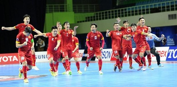 2016年亚洲五人制足球锦标赛:越南队点球大战击败日本队晋级四强 hinh anh 1