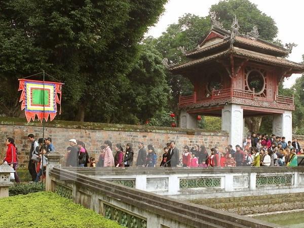 2016年春节期间河内市吸引逾4.6万人次前来参观 hinh anh 1
