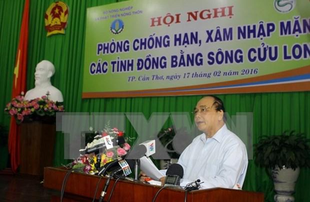 阮春福副总理:致力防止因干旱和海水侵蚀造成清洁饮用水缺乏和疫病爆发 hinh anh 1