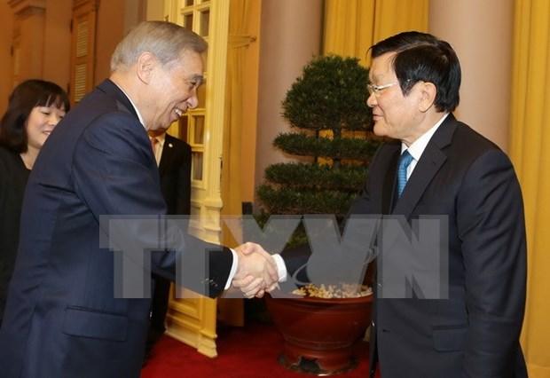 越南国家主席张晋创会见日本群马县代表团 hinh anh 1