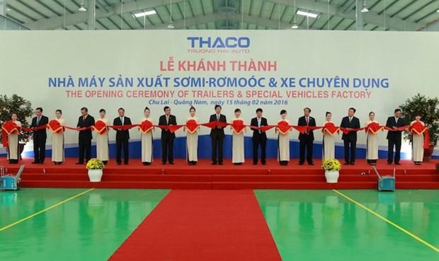 越南长海公司首家专用汽车及拖车工厂竣工 hinh anh 1