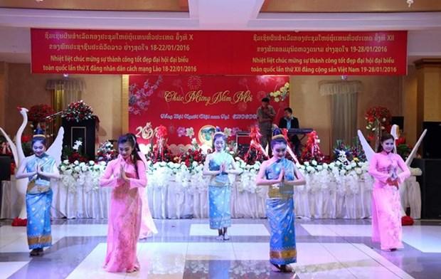 旅居老挝越南人举行集会庆祝越老两党全国代表大会成功召开 hinh anh 1